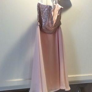 Beautiful blush strapless dress